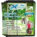 Flux Phenom Reinforced Magnetic Screen Door, Fits Doors Up To 38 x 82-Inch