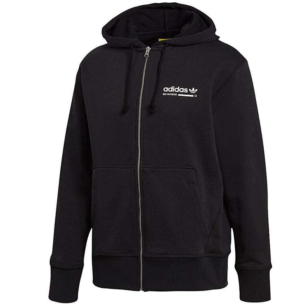 official site genuine shoes differently adidas Men's Originals Kaval Hoodie Black dh4989