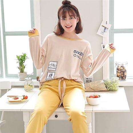 XLNNSY Pijamas de algodón de Manga Larga de Primavera y otoño Invierno Servicio a Domicilio: Amazon.es: Deportes y aire libre