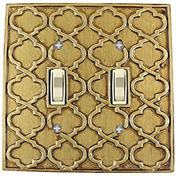 Meriville Moroccan 2 Toggle Wallplate, Double Switch Electrical ...