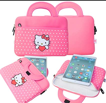 7431989aa Amazon.com: Cute Hello Kitty 10.5inch Tablet Case Sleeve Carrying ...