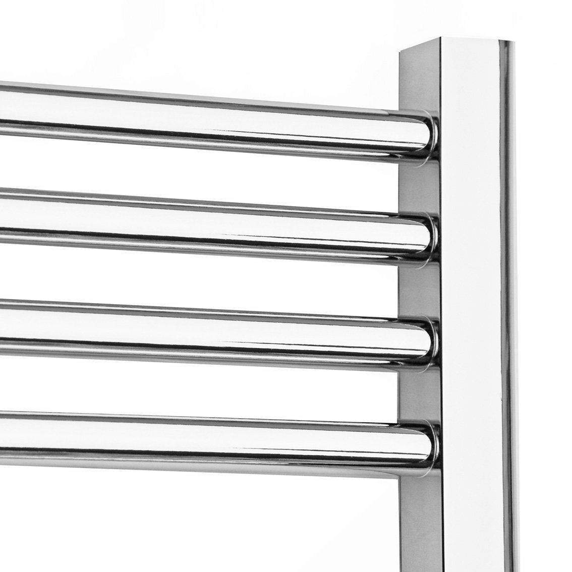 Natasha ladder rail straight modern electric towel radiator in chrome - 600 X 800 Heated Towel Rail Radiator Warmer Straight Chrome 1624 Btu S Amazon Co Uk Diy Tools