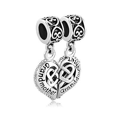 914c318d6 Amazon.com: MYD Jewelry Grandmother Granddaughter Charms Dangle Bead ...