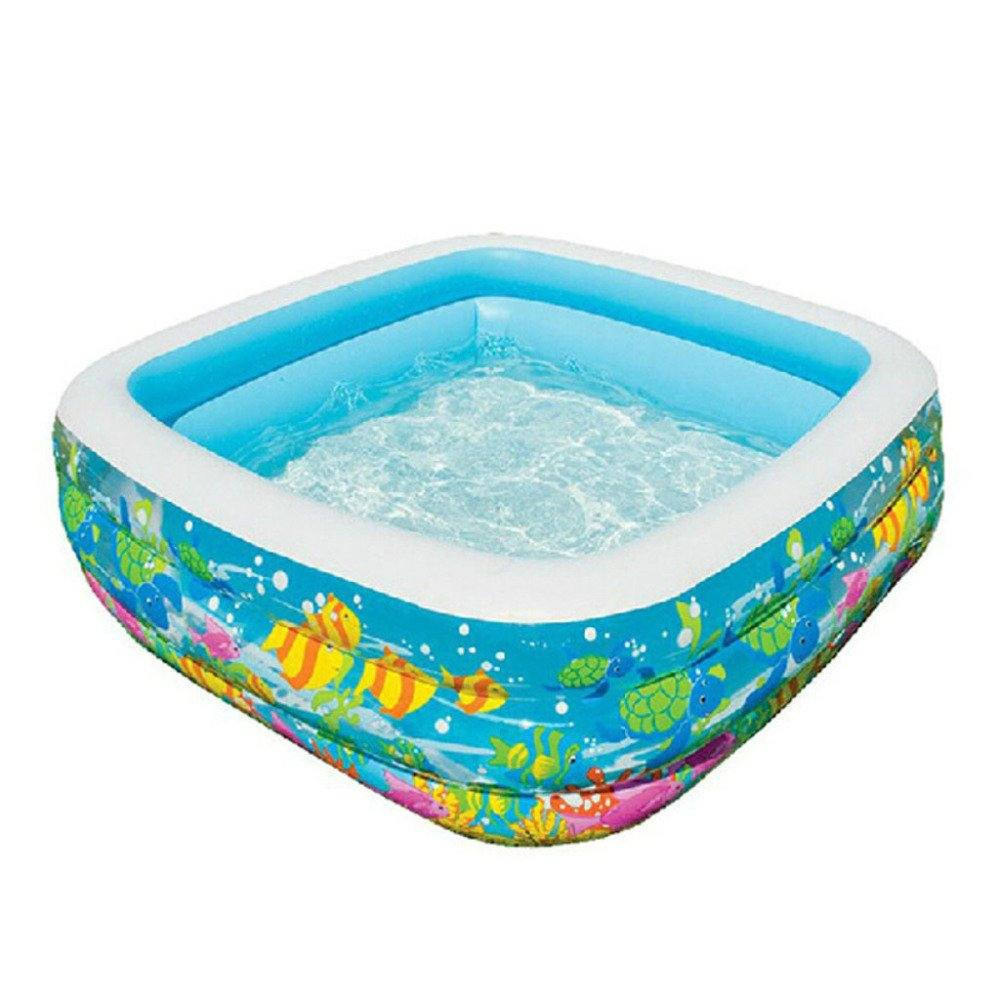 LIJUN Piscina Inflable PVC Family Pool Square Piscina Inflable Piscina para Niños,159  159  50