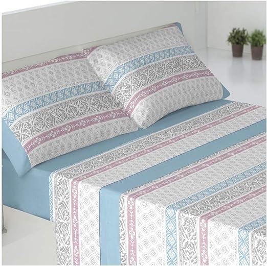 Color Azul Juego de sabanas Invierno Tejido CORALINA DRAVA Azul Cama de 135 x 190//200
