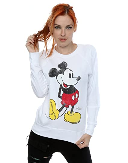 Disney Femme Mickey Mouse Classic Kick Sweat-shirt  Amazon.fr ... 4f4e6da1e7ef