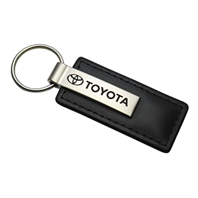 Toyota Black Leather Key Chain: Automotive