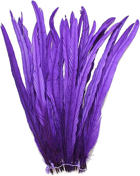 New 12-14 In 30-35CM long Dyed Rooster COQUE tail Feathers 16 colors to pick