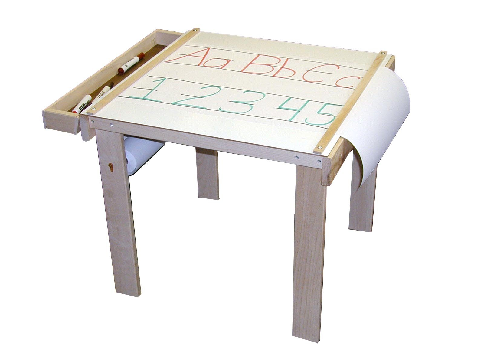 Beka 08402 Art Table one wood tray paper holder under table (paper sold separately)