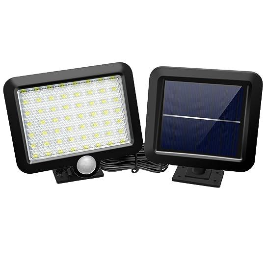 Lampe Solaire Jardin, GLISTENY 56 LED Luminaire Exterieur étanche ...