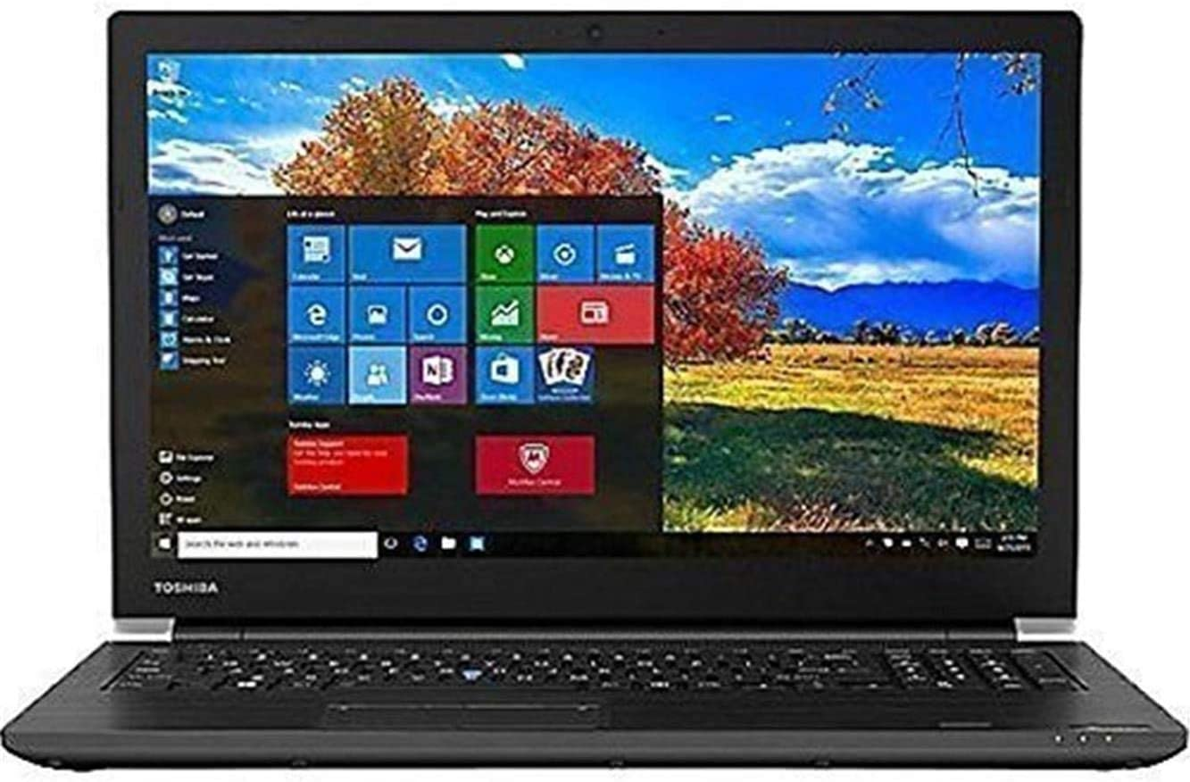 "Toshiba Dynabook Tecra A50-F 15.6"" Full HD FHD (1920x1080) Business Laptop (Intel Quad Core i7-8565U, 16GB RAM, 256GB M.2 SSD) Wi-Fi 6, Type-C, HDMI, 4 x USB, DVD, VGA, Windows 10 Pro 64-bit (Renewed)"