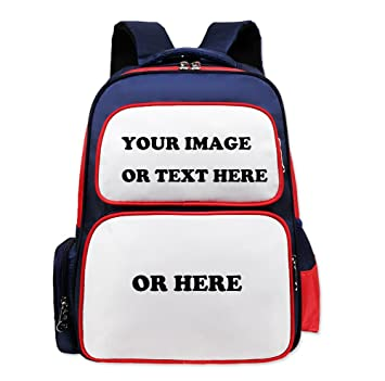 73bbeb72aaa Amazon.com   SCOFEEL SPORT Custom Personalized Cute Kids School Backpack  for Children Elementary School Bags Book Bags with Name Text Photos   Kids   ...