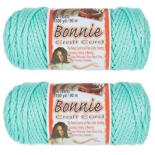 2 Pack Bonnie Macramé Cord - 4mm - 100 yd Lengths - Various Colors ()