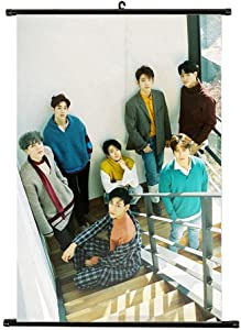 Kpop GOT7 Poster, Cool Scroll Painted Wall Poster Collection Home Room Decor