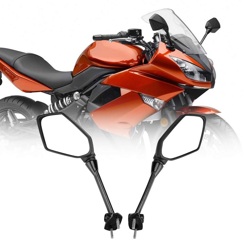 Fits Kawasaki Ninja 650R Mirrors 2009-2017 NINJA ER6F ER-6F 2009-2012 NINJA 400R 2010-2014 Side Mirror