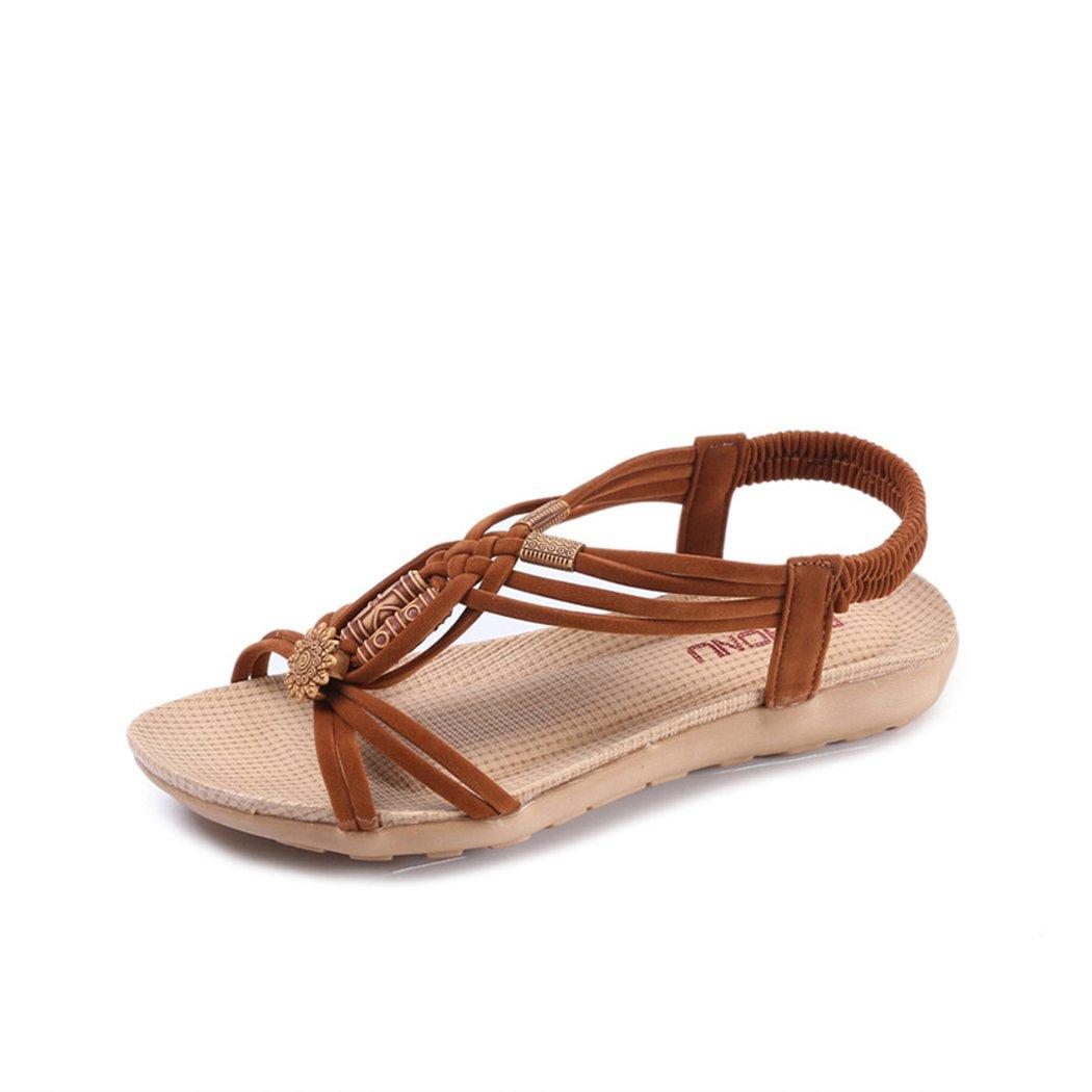 f94127f5e3bb Sandalen Ladies Girls Flower Flip Flops Wedge Toe Post Womens Summer Sandal  Size 4   5