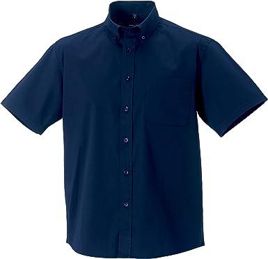 Russell Collection - Camisa Clasica de Manga Corta Modelo Classic Twill Hombre Caballero - Trabajo/Fiesta/Verano: Amazon.es: Ropa y accesorios
