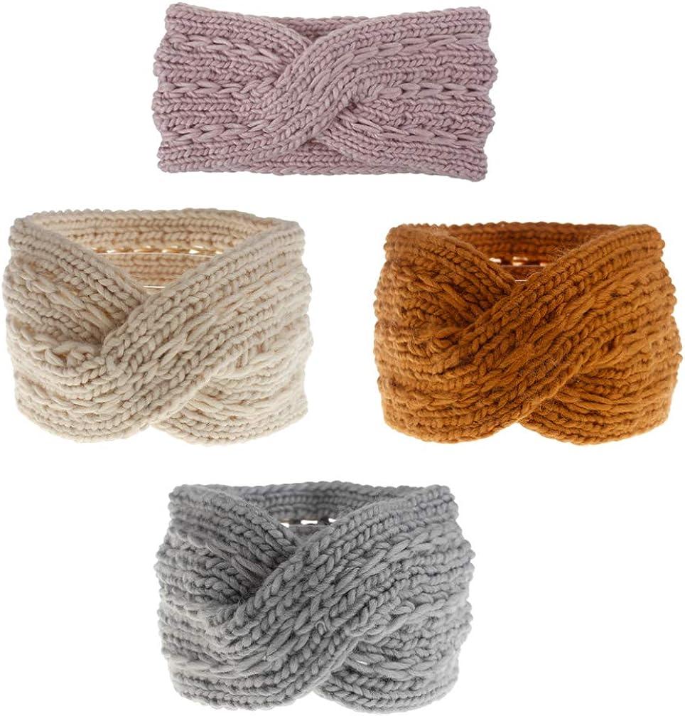 LEORX 4pcs Knitted Headband...