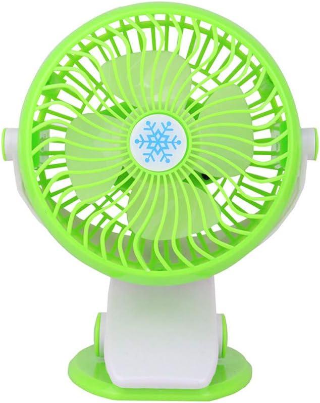 qishengshengwukeji Ventilador De Pinza Ventilador con Pinza Clip portátil en el Ventilador Enganche en el Cochecito del Ventilador Ventilador de Cama con Clip Green