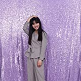 3e Home 4FT x 7FT Sequin Photography Backdrop Curtain for Party Decoration, Lavender