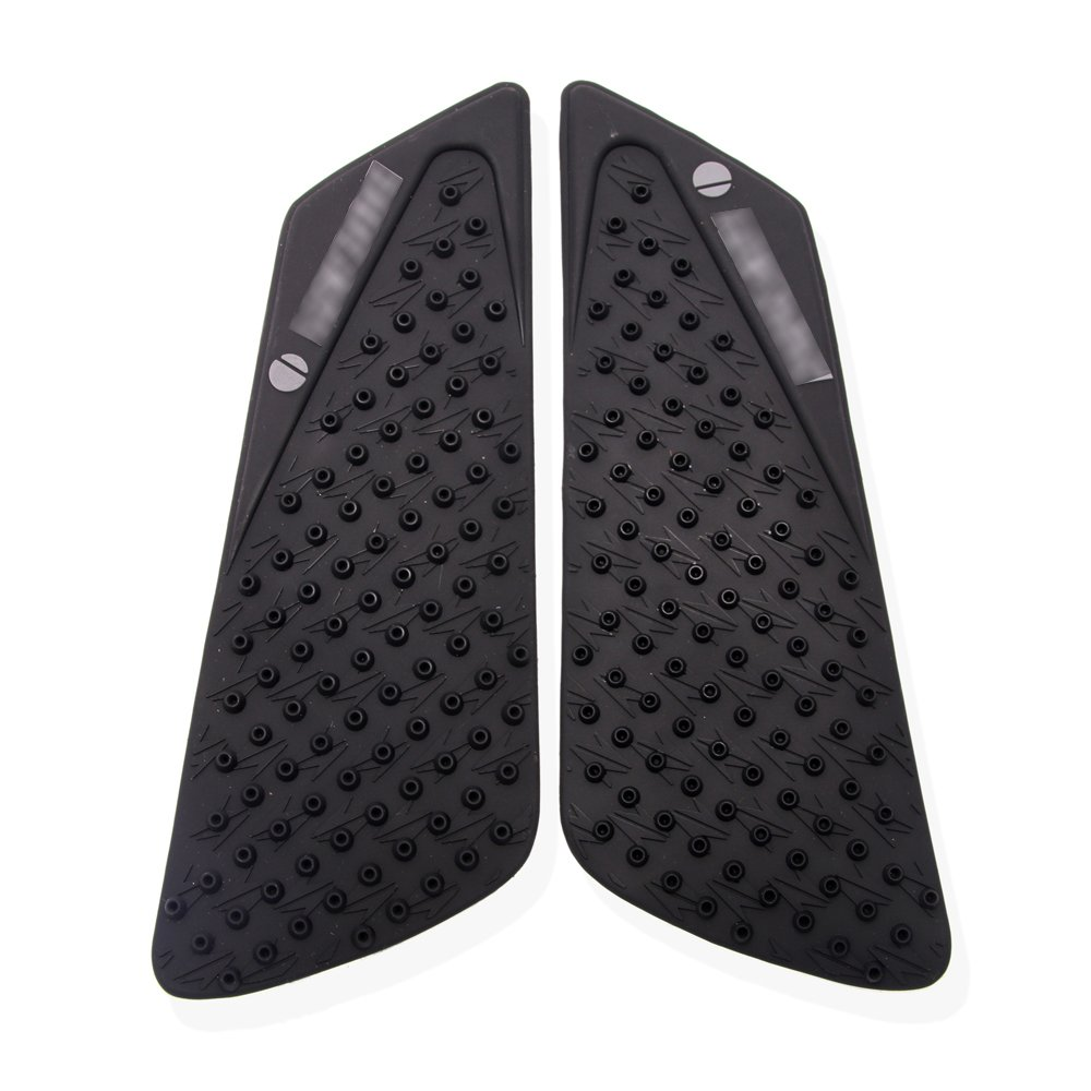 JFG RACING Black Tank Traction Side Pad Gas Fuel Knee Protector For Ducati 848 1098 1198 2008-2014