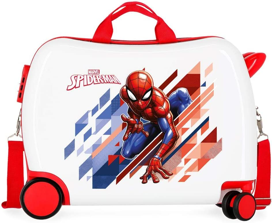 Valise Trolley Cabine Rigide Spiderman Geo Bleu