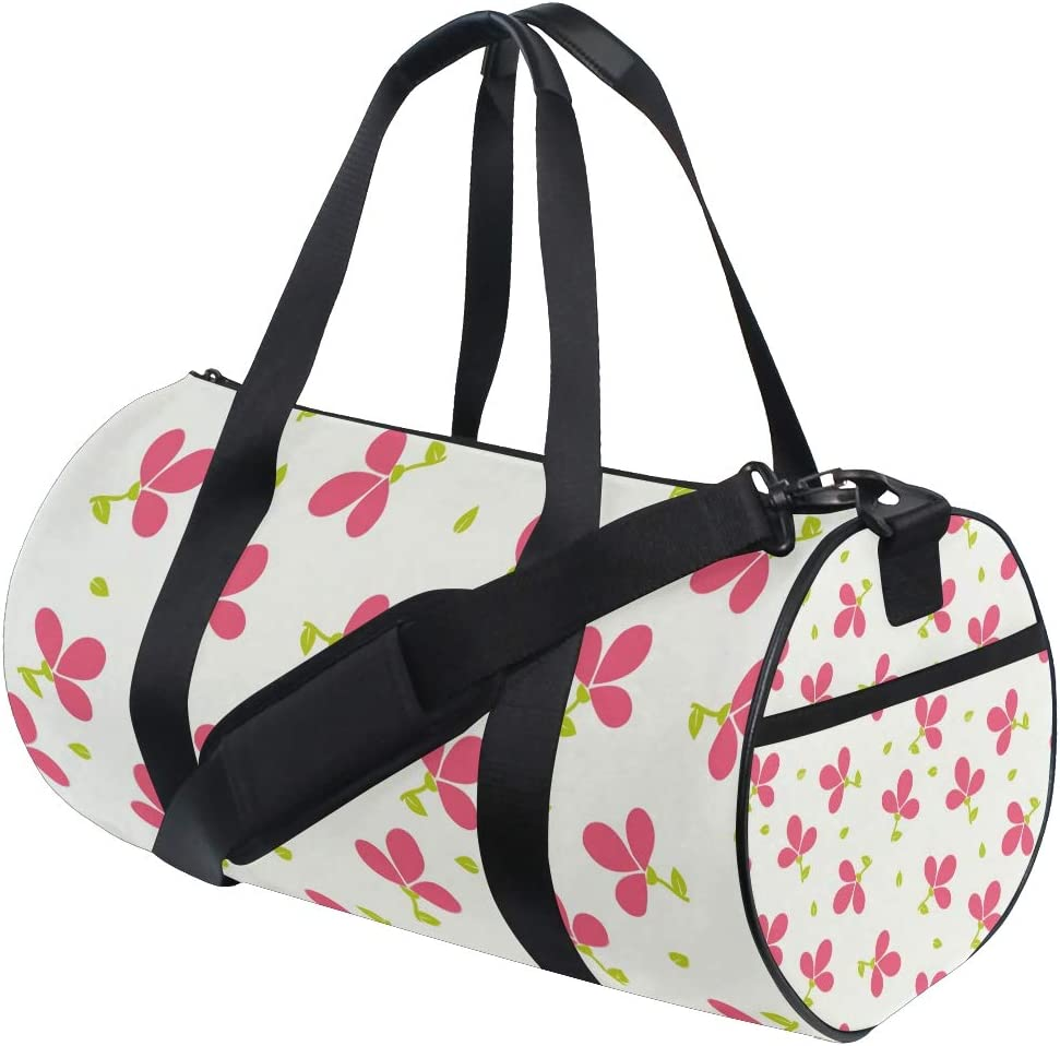 MALPLENA Red Clover Drum gym duffel bag women Travel Bag