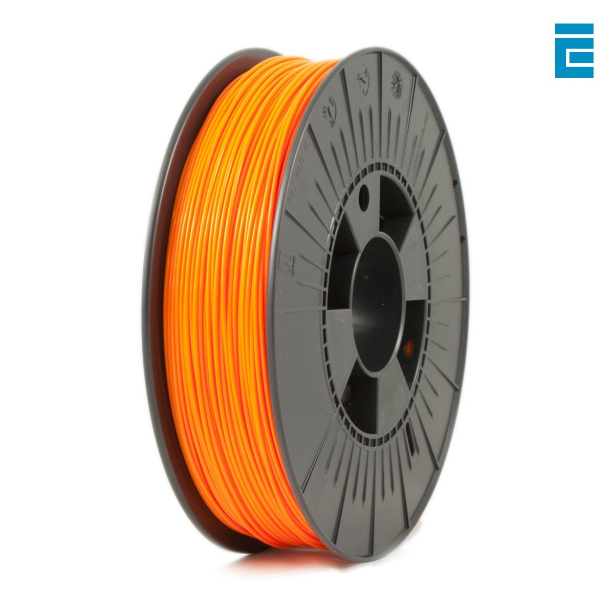 ICE FILAMENTS ICEFIL1PLA112 PLA Filament, 1.75 mm, 0.75 kg, Obstinate Orange DF