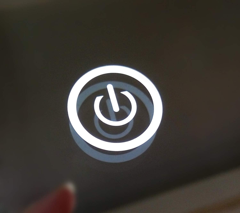 Pandafan LED Badspiegel rund 60cm Badezimmerspiegel mit Beleuchtung Kaltwei/ß LED-Beleuchtung Wandspiegel Touchschalter energiesparend Energieeffizienzklasse A+ Rund 60cm