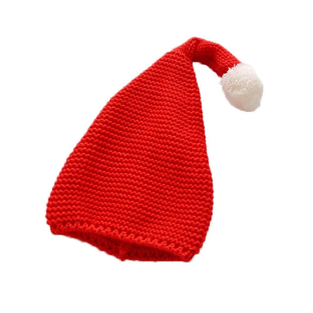 Leisial Bonnet P/ère No/ël Chapeau Laine Bonnet Tricot/é No/ël D/éguisement Chapeau Hiver No/ël pour Enfant et B/éb/é 38-52cm