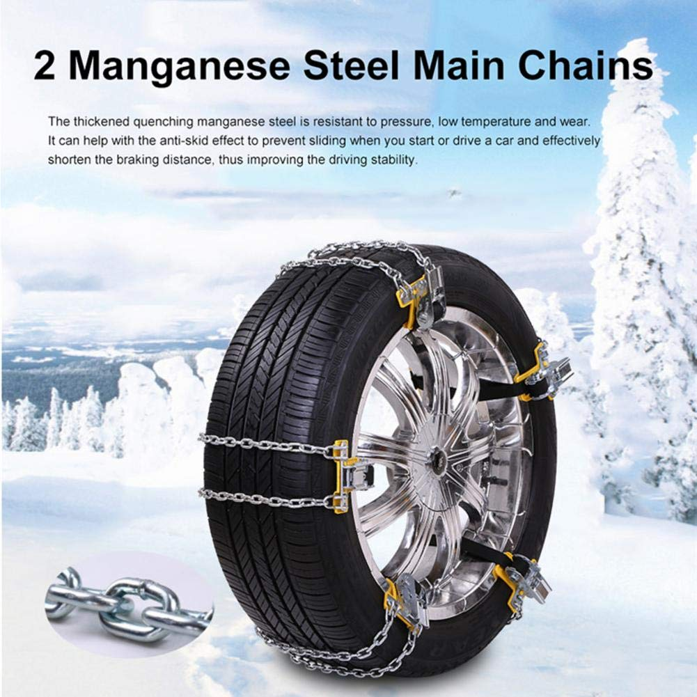 Cable Snow Tire Chain, Snow Blower and Garden Tractor, Anti Slip Snow Tire Chains for Car Truck SUV Anti-Skid Emergency Winter Driving(1PC) blue--net