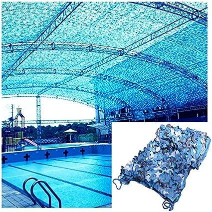Red De Camuflaje Azul, Balcón Decoración De Jardín Toldo De Sombra Toldo Terraza Toldo De Sol Tienda De Pérgola Carport Toldo De Sol Toldo Red De Lona 3x5m 6m (Size : 2 *