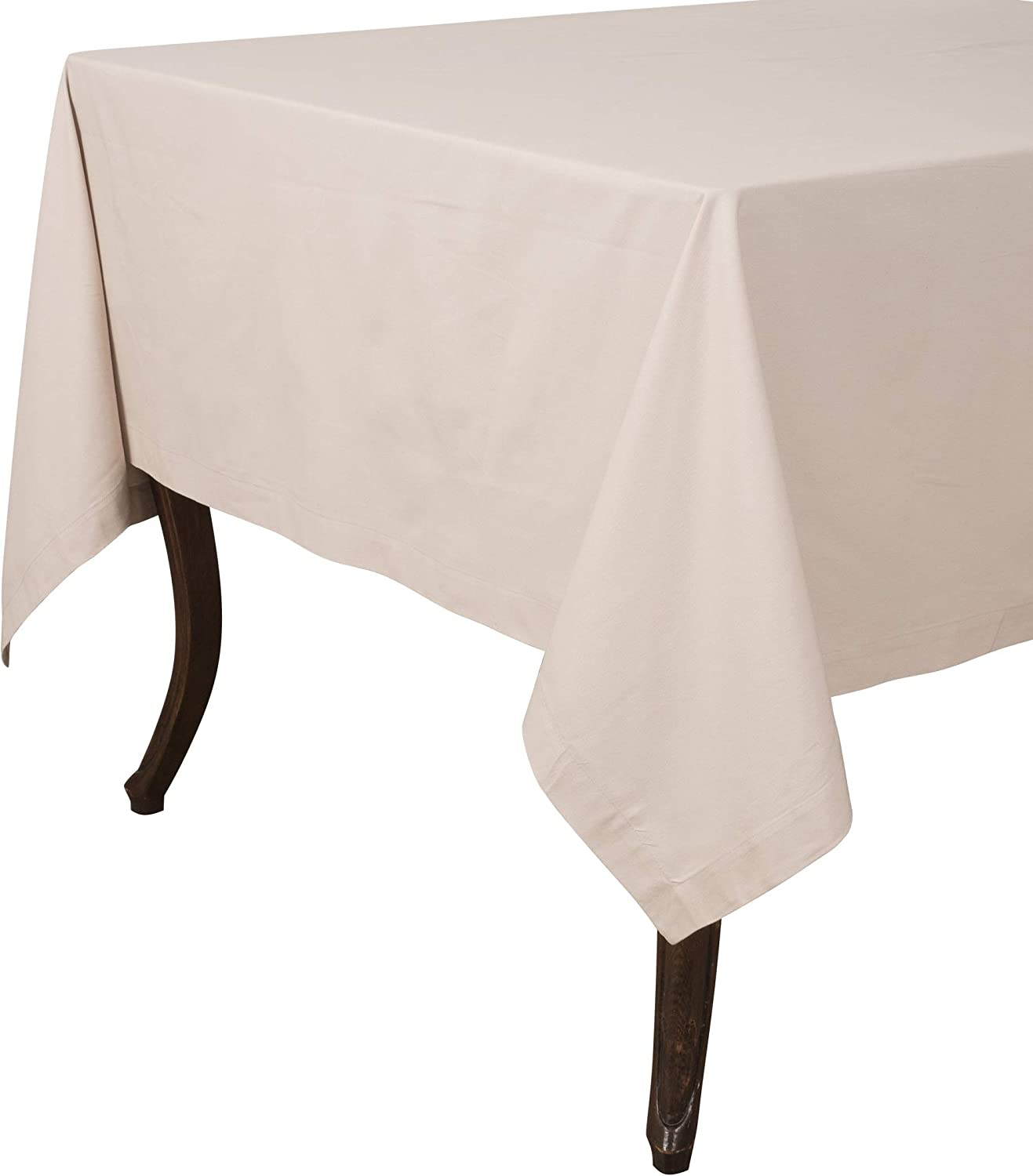 "KAF Home Buffet Tablecloth in Flax, 70"" by 70"", 100% Cotton, Machine Washable"