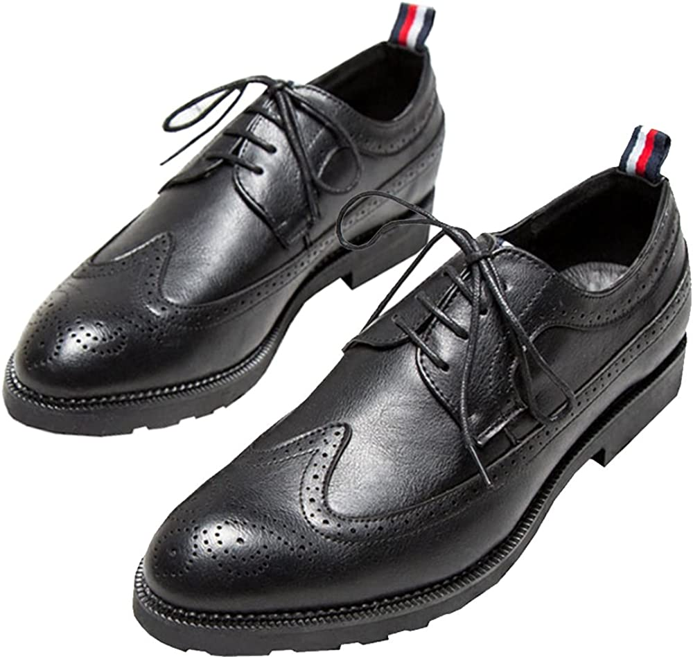 COINED Mens Pointed Toe Breathable Shoes