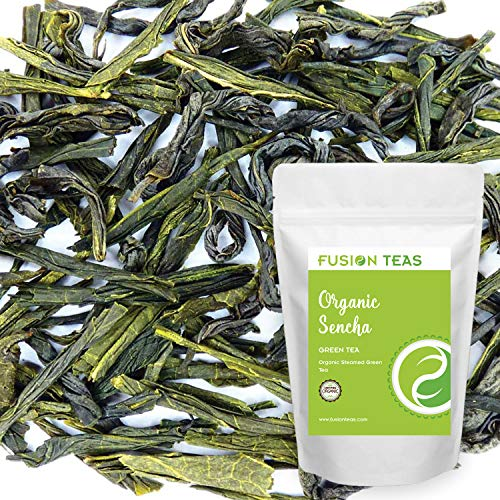 Gourmet Loose Leaf - Organic Sencha Green Tea - Pure Gourmet Loose Leaf Tea From Japan Zero Calories and Low Caffeine - 3 Oz. Pouch