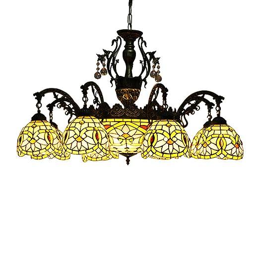 Amazon.com: Makenier clásico Estilo Tiffany vidrieras 8 ...
