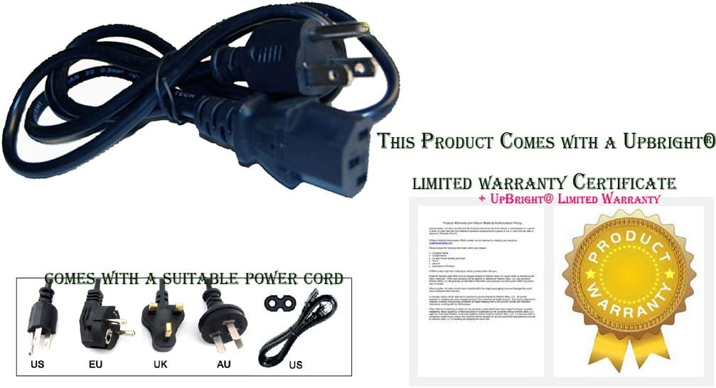 """NEW Coby TFTV1923 19/"""" LCD HD TV AC Power Cord Cable Plug"""