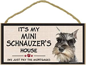 Imagine This Wood Breed Decorative Mortgage Sign, Mini Schnauzer