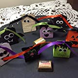 Just 8 Halloween Fun Crew Hershey Nugget Holders/Treat Holders (bat, mummy, frankenstein, spider, ghost, pumpkin, black cat, vampire)