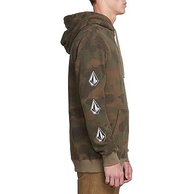 991a92d8e Amazon.com: Volcom Men's Deadly Stone Pullover Hooded Fleece Sweatshirt:  Clothing