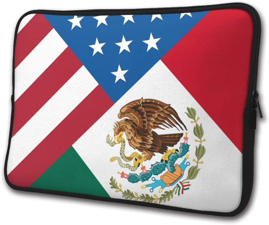 Yongchuang Feng American Mexican Flag Sleeve Laptop Bag Tablet Case Handbag Notebook Messenger Bag for Ipad Air MacBook Pro Computer Ultrabook 13-15 Inches