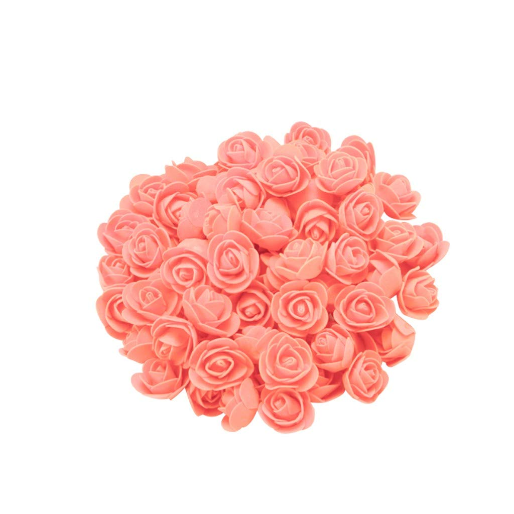 Cyhulu New Fashion Creative 100Pcs Foam Rose Flower Heads Best Lover Gifts for Wedding Birthday Valentine Mother's Day Favors Decoration (J, One size)
