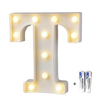 LED Buchstabe Lichter Alphabet Buchstabe P LED Brief Licht Led dekoration f/ür Geburtstag Party Hochzeit /& Urlaub Haus Bar