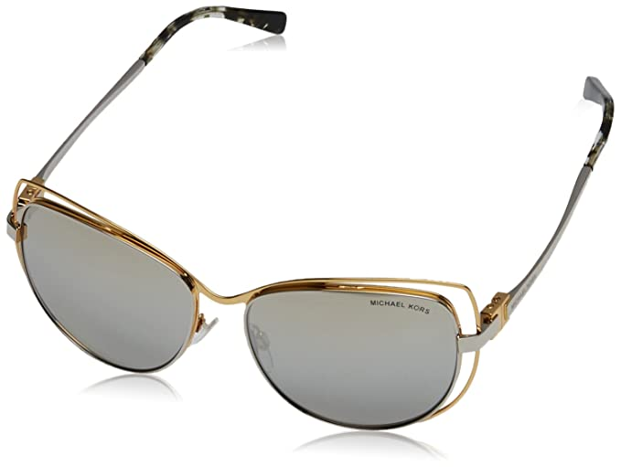 37769d5ffd Michael Kors AUDRINA I MK1013 Sunglasses 11196V-58 - Gold Silver at Amazon  Women s Clothing store