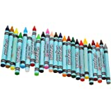 Gazechimp 24 Farben Wachsmaler Wachsmalstifte Wachsmalkreiden Crayon Set Kinder Geschenk