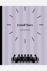 CORNELL NOTES FOR MEETINGS Paperback