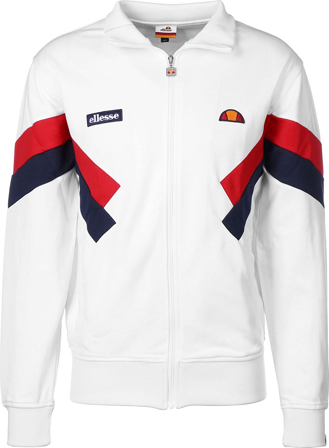 4e46d7e8e53e14 Ellesse Chierroni Trainingsjacke optic white: Amazon.de: Bekleidung