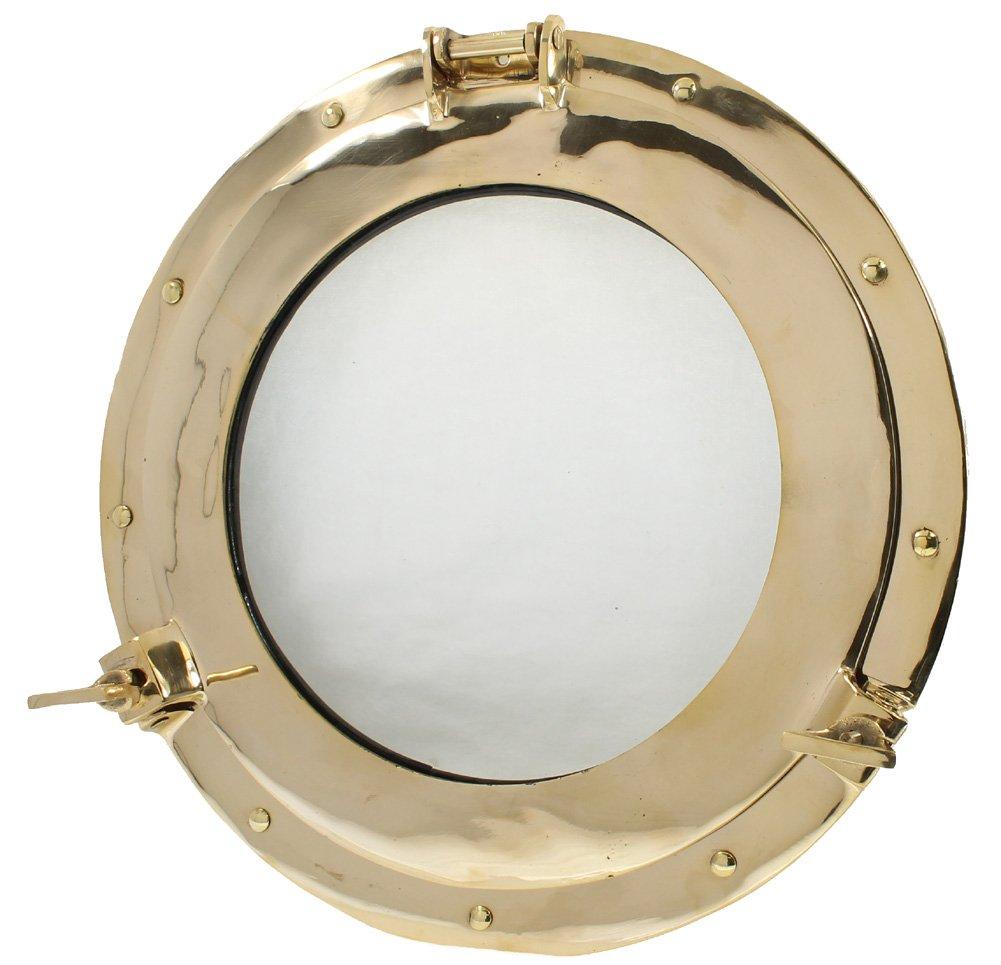 15 Brass Porthole Window: Maritime and Nautical Ship Decor Nagina International