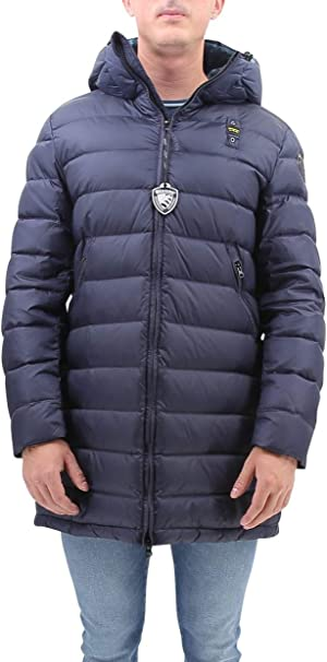 Blauer Impermeabile//Trench Lunghi Imbot.ovatta Anorak para Hombre