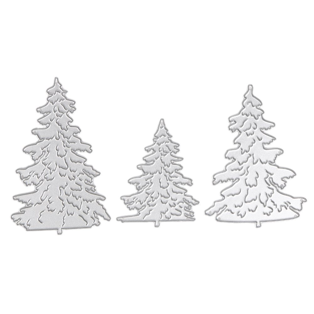 3Pcs Christmas Tree Metal Die cutting Dies for DIY Scrapbooking Home Holiday Decoration Amazingdeal365 3372228